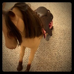 Other - Baby doll horse with adjustable saddle